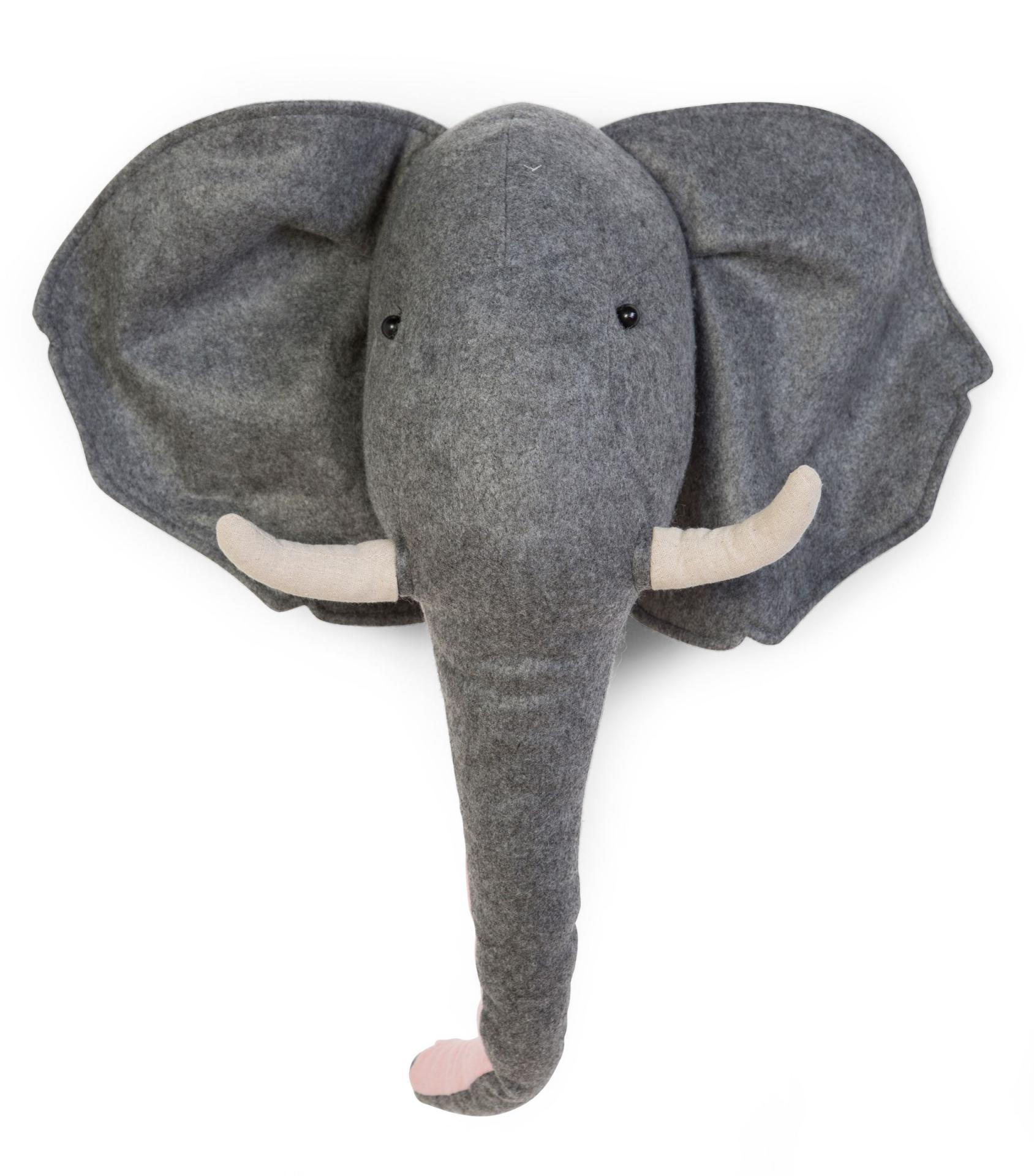 Animal Head Elephant fieltro -decoraciónn de pared