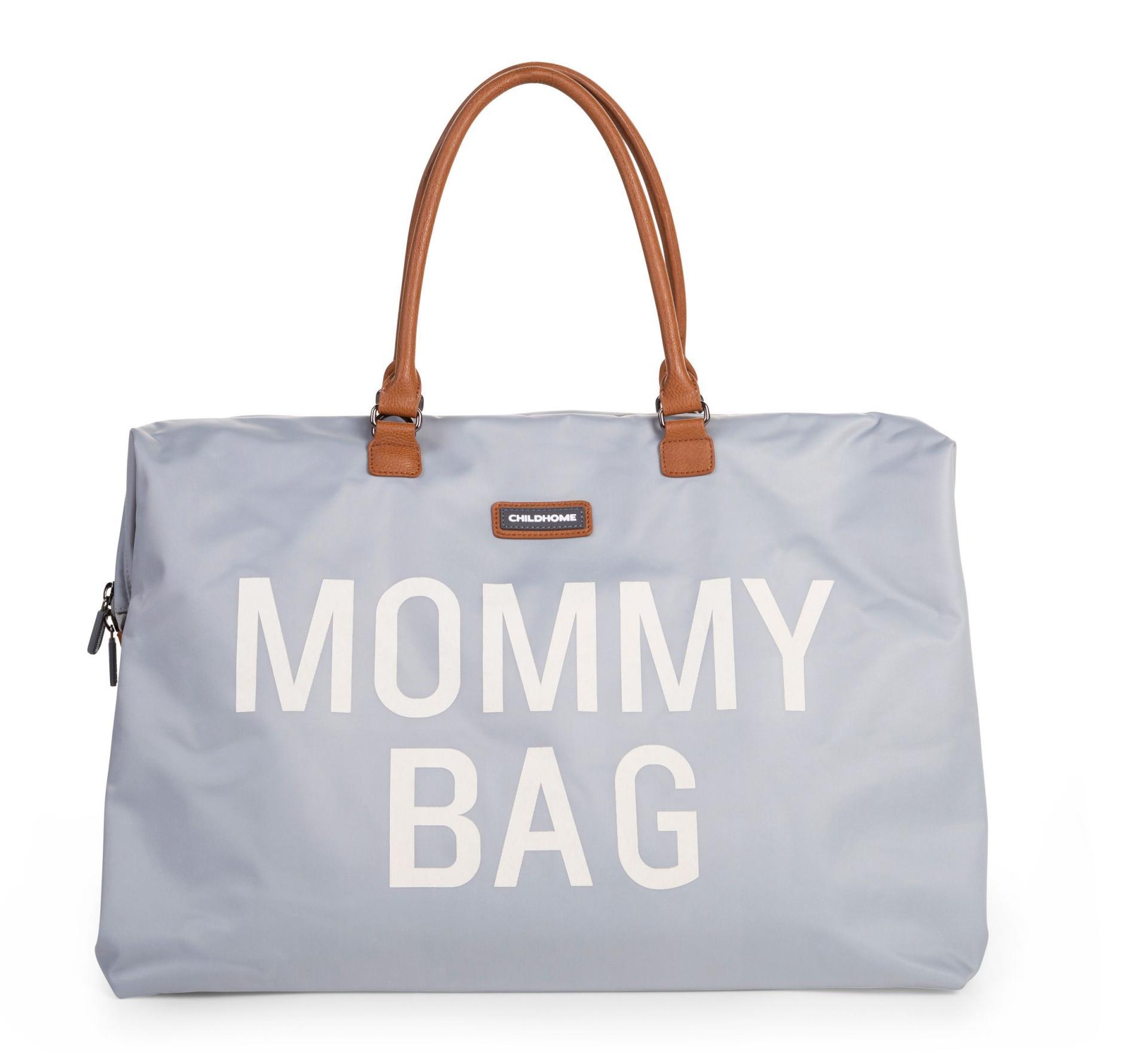Mommy bag gris y blanco
