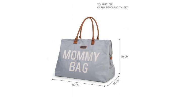 Mommy bag gris y blanco [2]