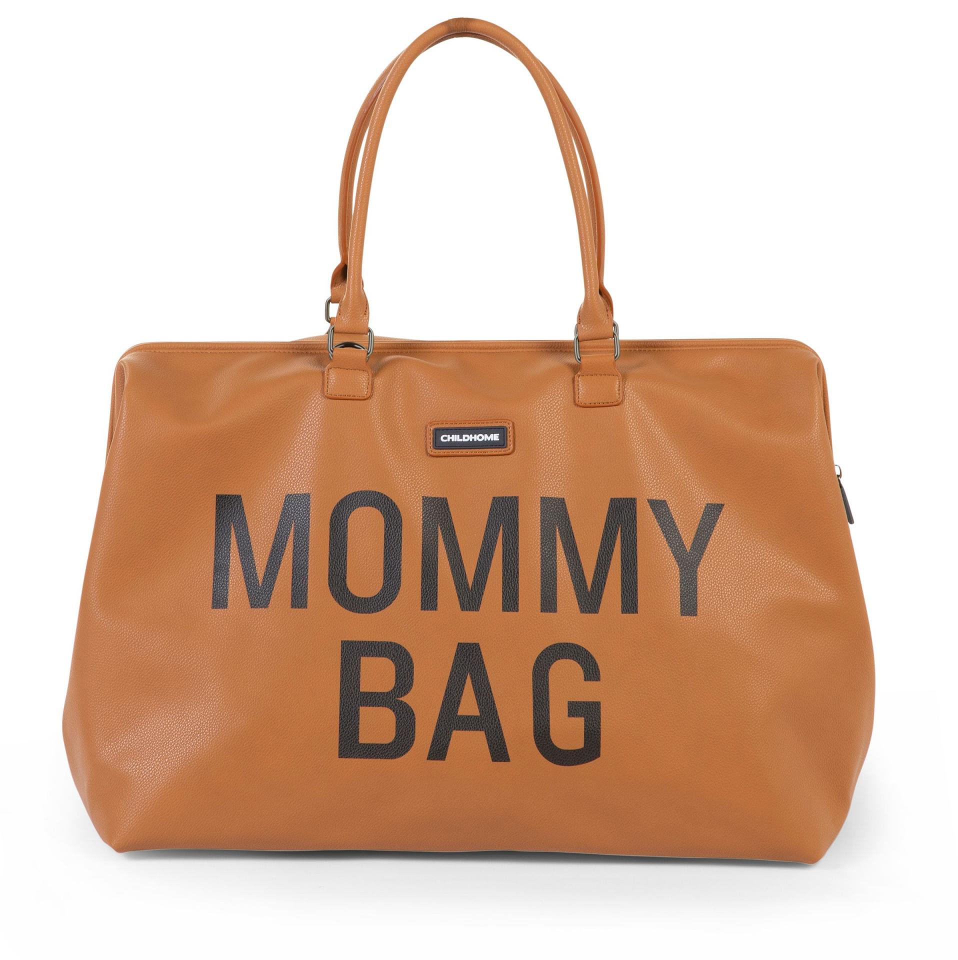 Mommy bag camel PU piel