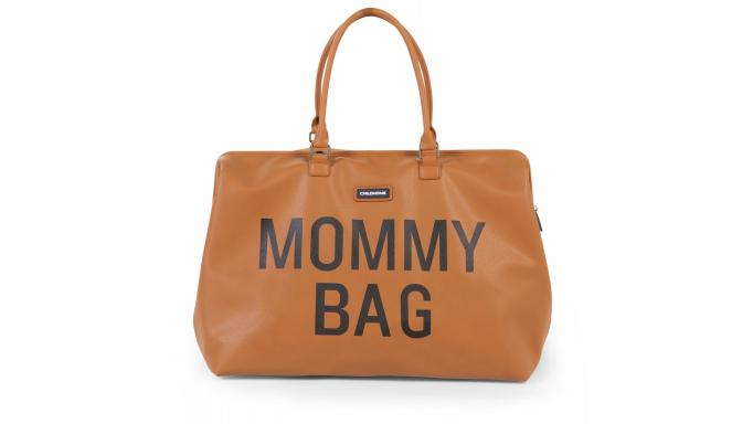 Mommy bag camel PU piel