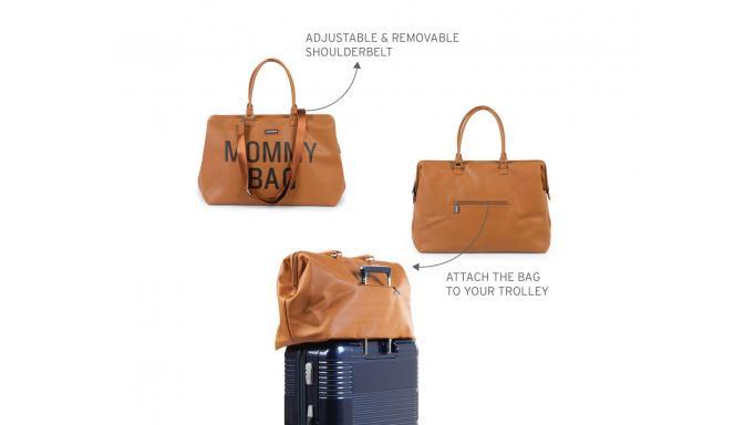 Mommy bag camel PU piel [2]