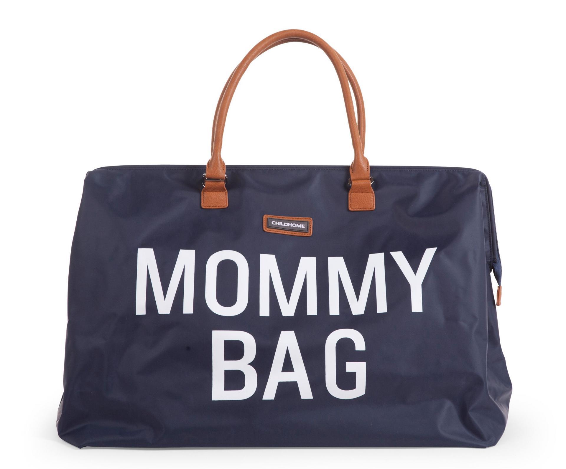 Mommy Bag Nursery Bag - Azul marino y blanca