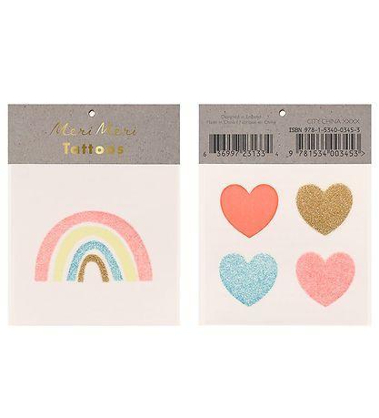 Tatoo arco iris y corazones