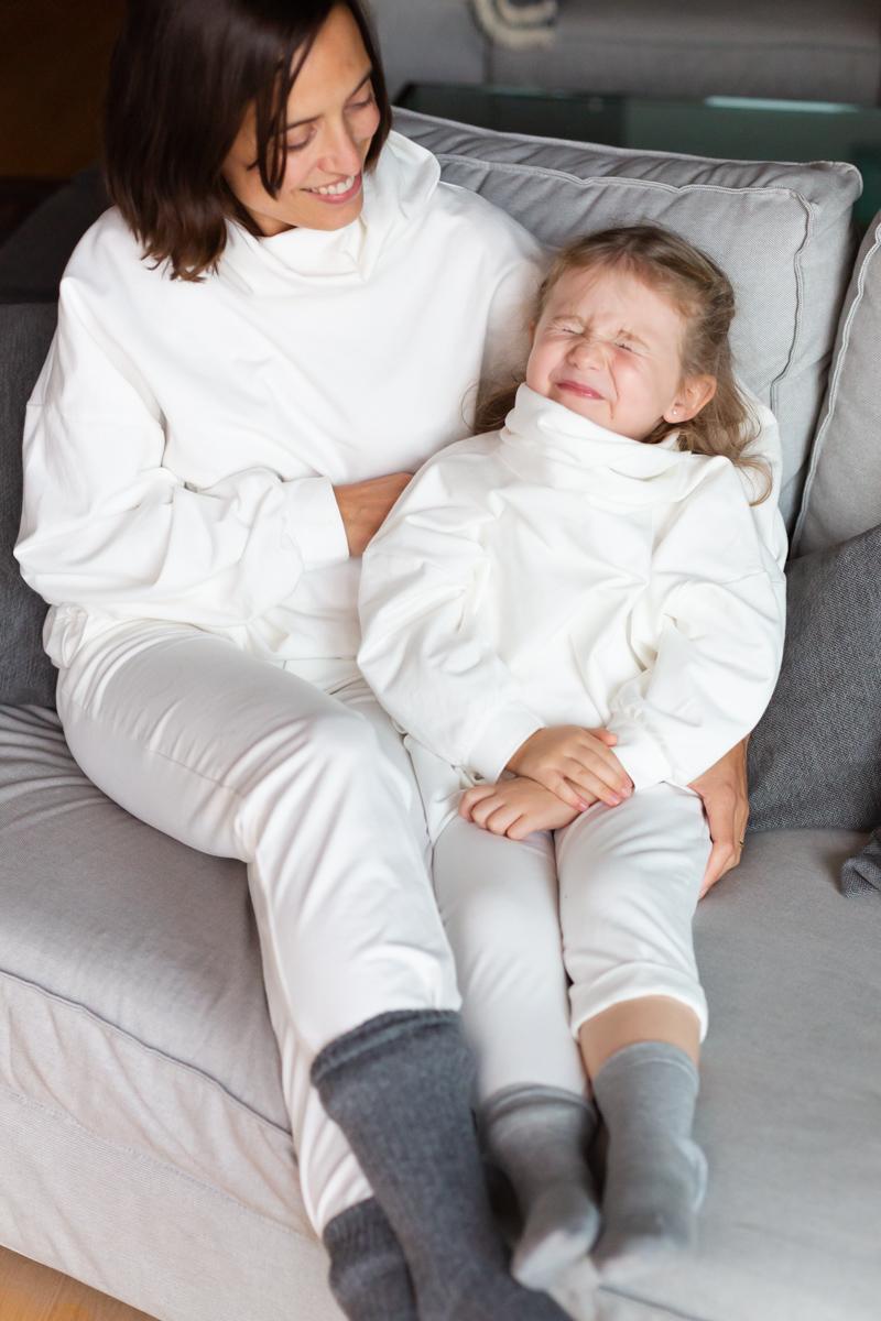 Pantalon punto crudo off white