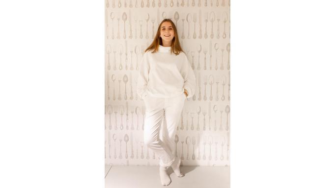 Pantalon punto crudo off white [2]