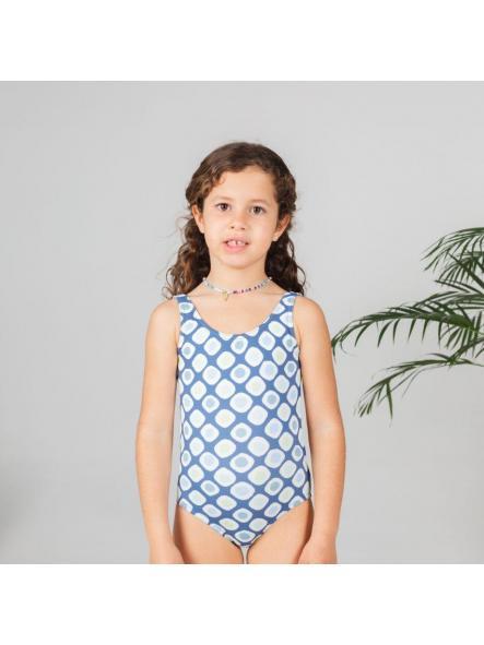 Bañador niña topo azul