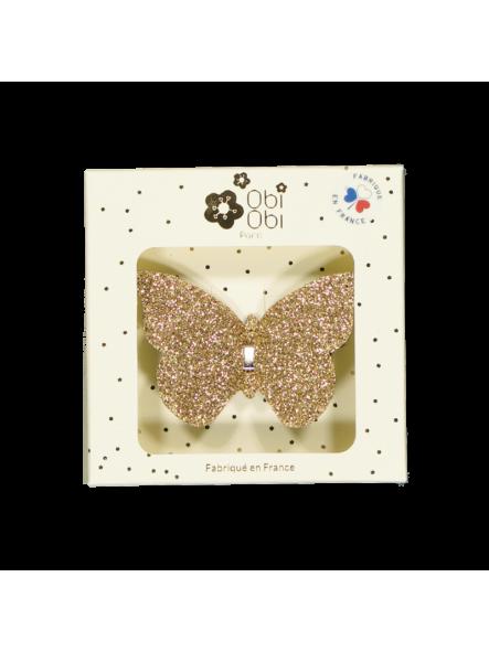Horquilla mariposa oro