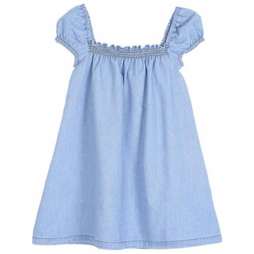 Vestido azul algodón (tipo vaquero)