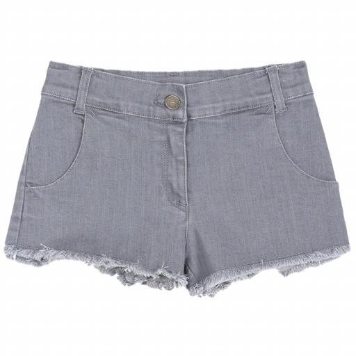 Pantalón corto gris