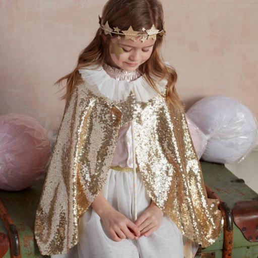 Disfraz capa reina oro [1]