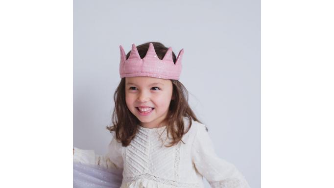 Corona suave terciopelo rosa