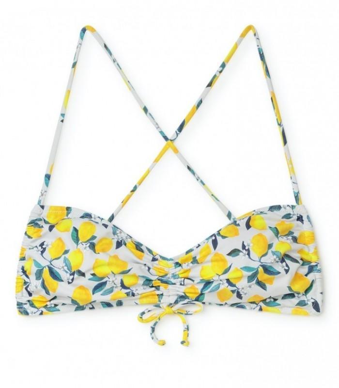 Bikini lemonade top frunce