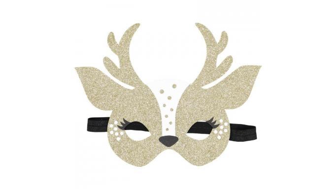 Máscara ciervo oro