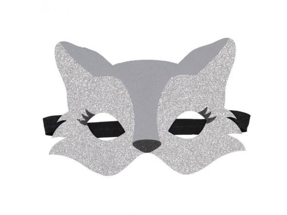 Máscara loba plateada