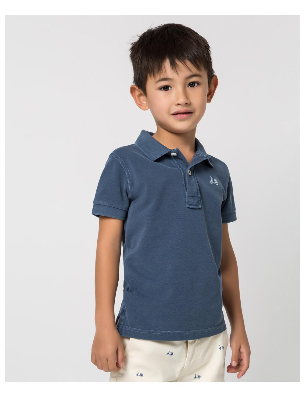 Polo niño tinte prenda denim