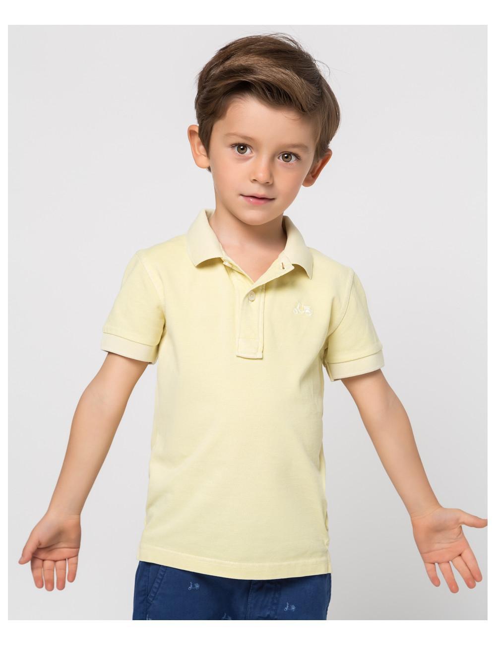 Polo niño tinte amarillo limón