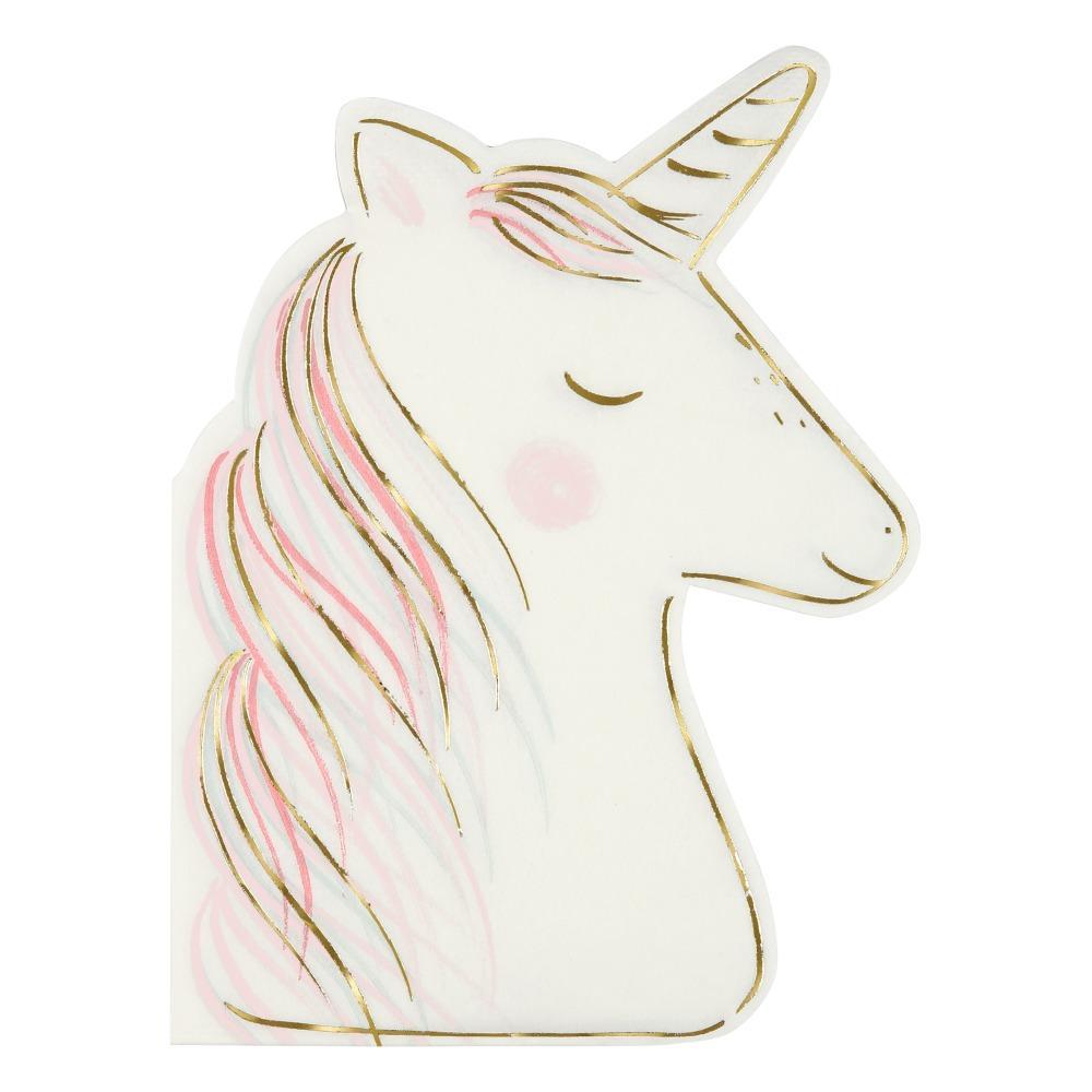 Servilletas de papel Unicornio