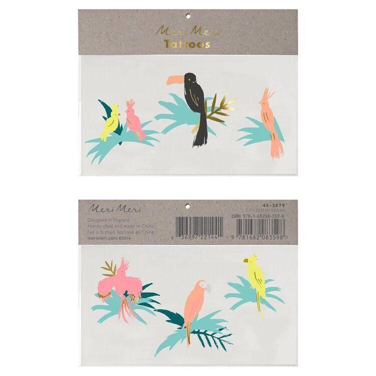 Tatoo pájaros tropical