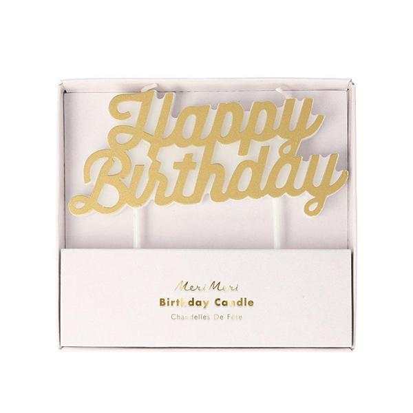 Vela Happy Birthday dorada Precio habitual