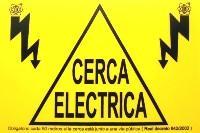 Cartel de señalizacion de cerca electrica