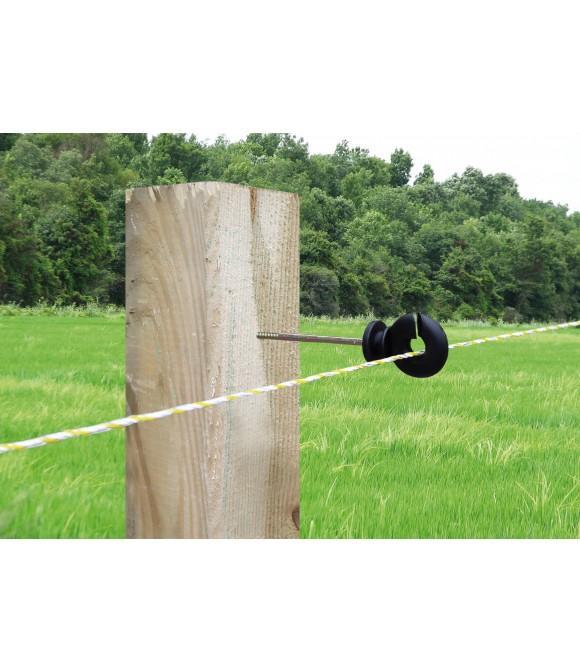 Aislador para roscar en madera 10cm