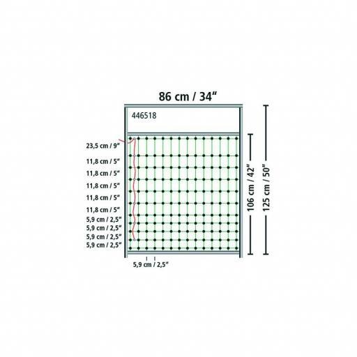 Puerta para malla hasta 125 cm [1]