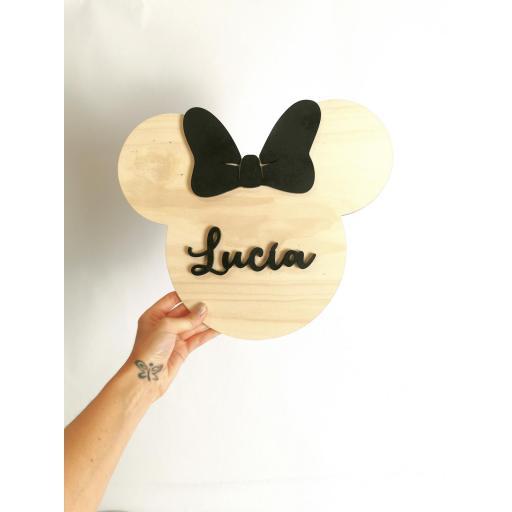 Placa Minnie/Mickey Mouse [1]
