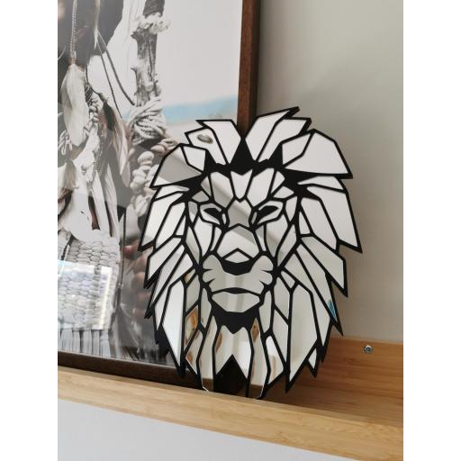 Espejo Lion Geometrico [2]