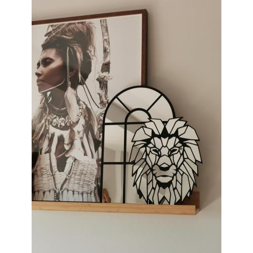 Espejo Lion Geometrico [1]