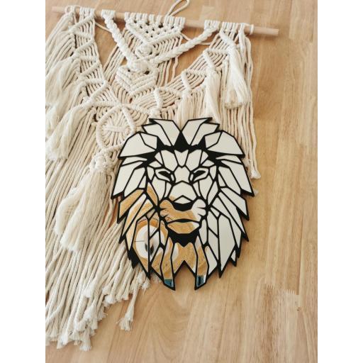 Espejo Lion Geometrico