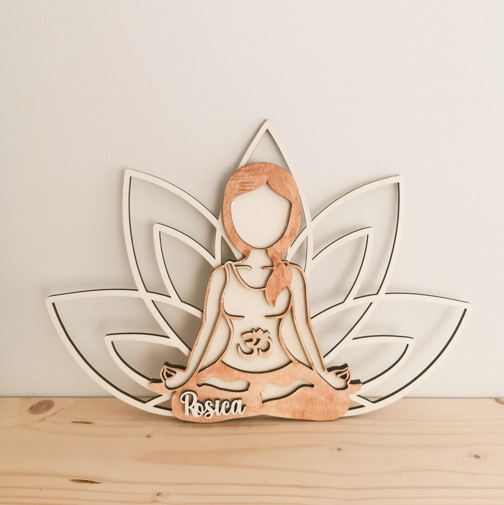 Ilustración chica yoga