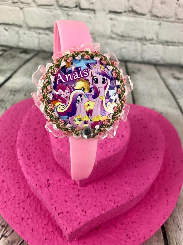 Diadema Pony Personalizada Pink