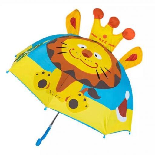 Paraguas niña 3D León AliExpress barato