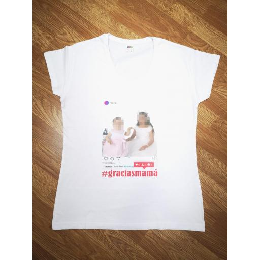 Camiseta personalizada con foto.