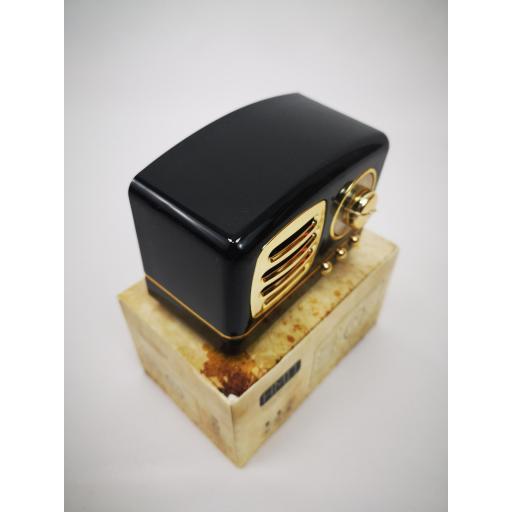 Altavoz Bluetooth con forma de radio vintage, Radio FM, MicroSD, USB [1]
