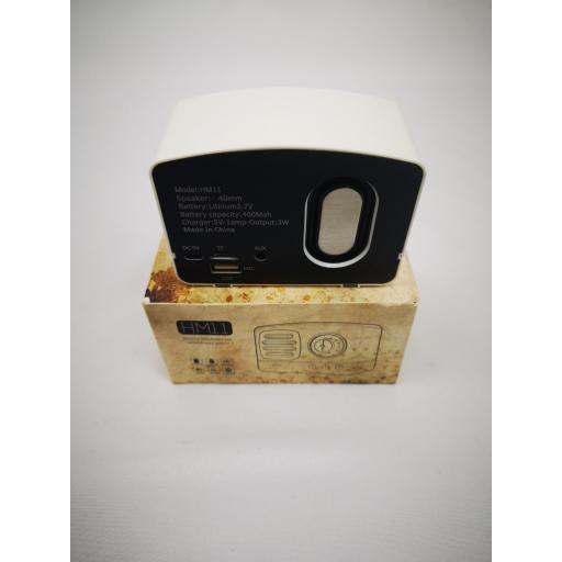 Altavoz Bluetooth con forma de radio vintage, Radio FM, MicroSD, USB [2]