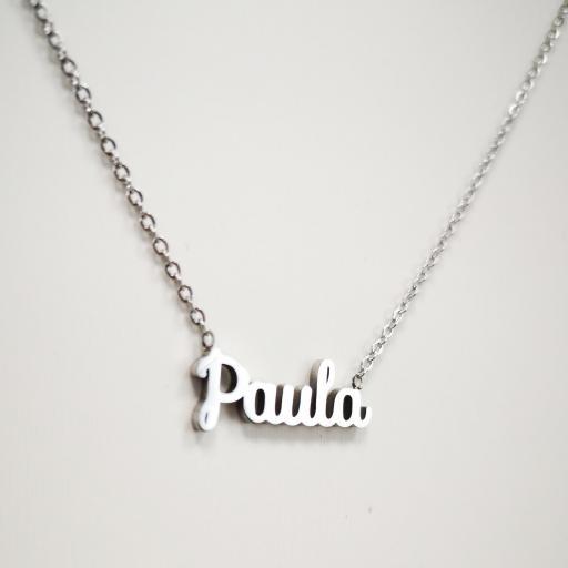 Collar personalizado nombre Paula