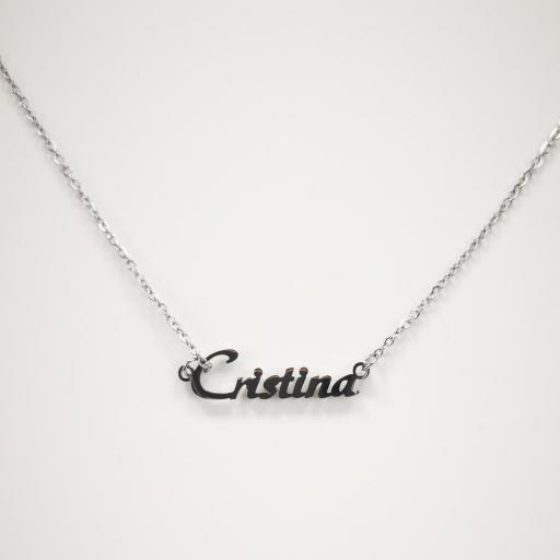 Collar con nombre Cristina barato [1]