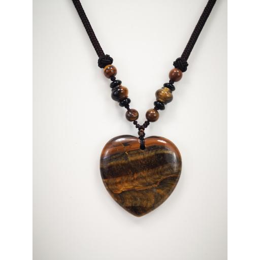 Collar  corazón de cuarzo marrón [1]