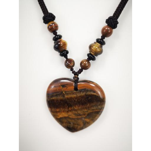 Collar  corazón de cuarzo marrón [2]