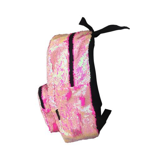 Mochila lentejuelas rosa-fucisa [2]