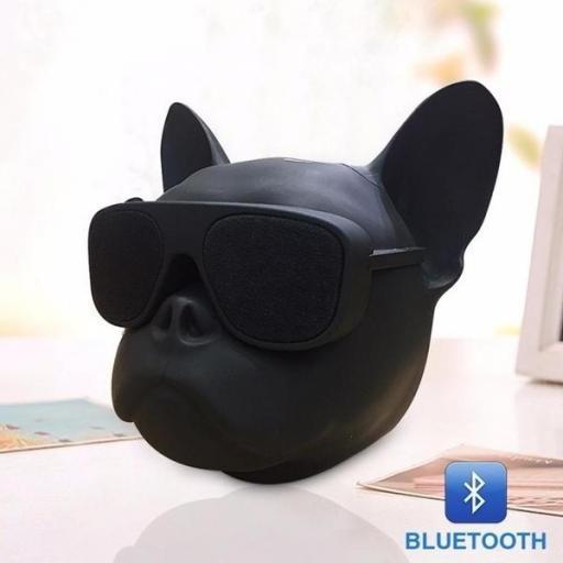 Altavoz inalámbrico con Bluetooth bulldog pequeño [1]