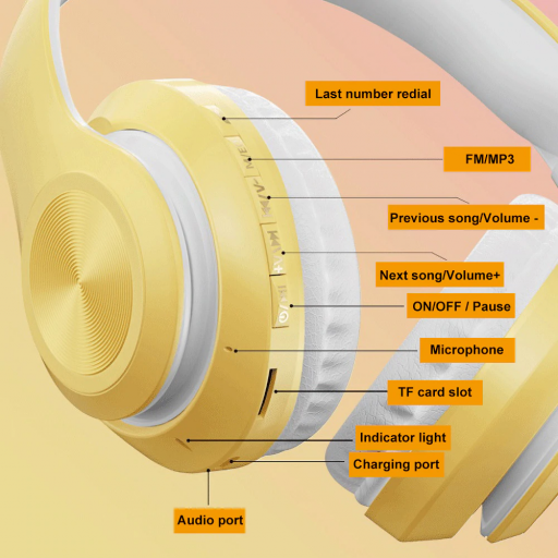Auriculares marigold yellow bluetooth [1]