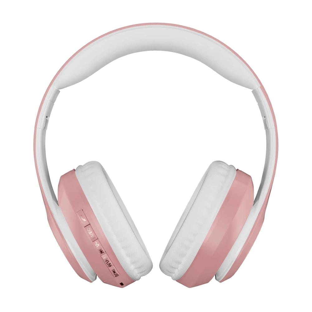 Auriculares rosa pastel bluetooth