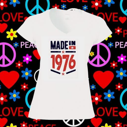 Camiseta made on 1976
