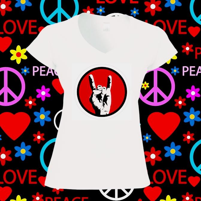 Camiseta mujer rock
