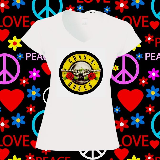 Camiseta mujer guns roses