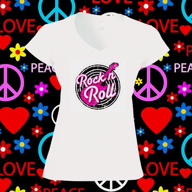 Camiseta mujer rock and roll