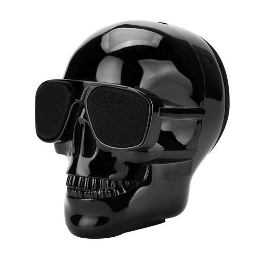 Altavoz inalámbrico con Bluetooth Calavera negra con gafas [1]